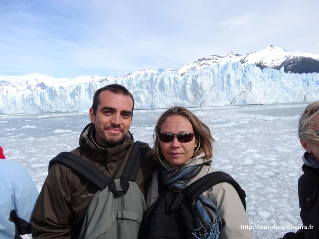 Argentine - El Calafate - Nous devant le glacier Perito Moreno
