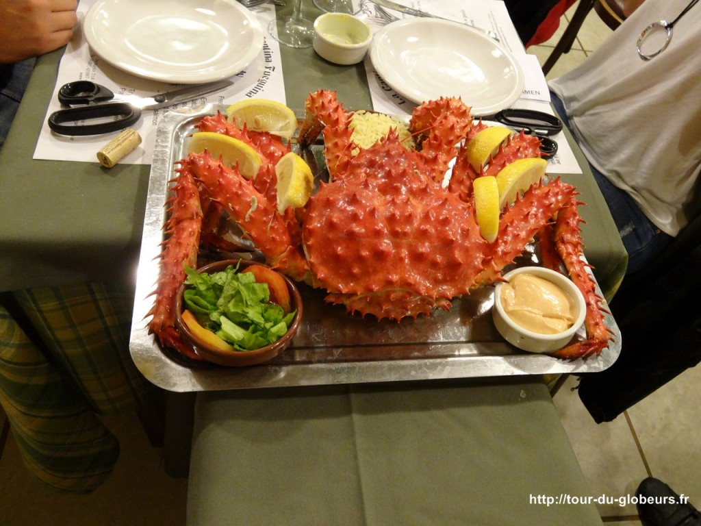 Argentine - Ushuaïa - King Crabe cuit