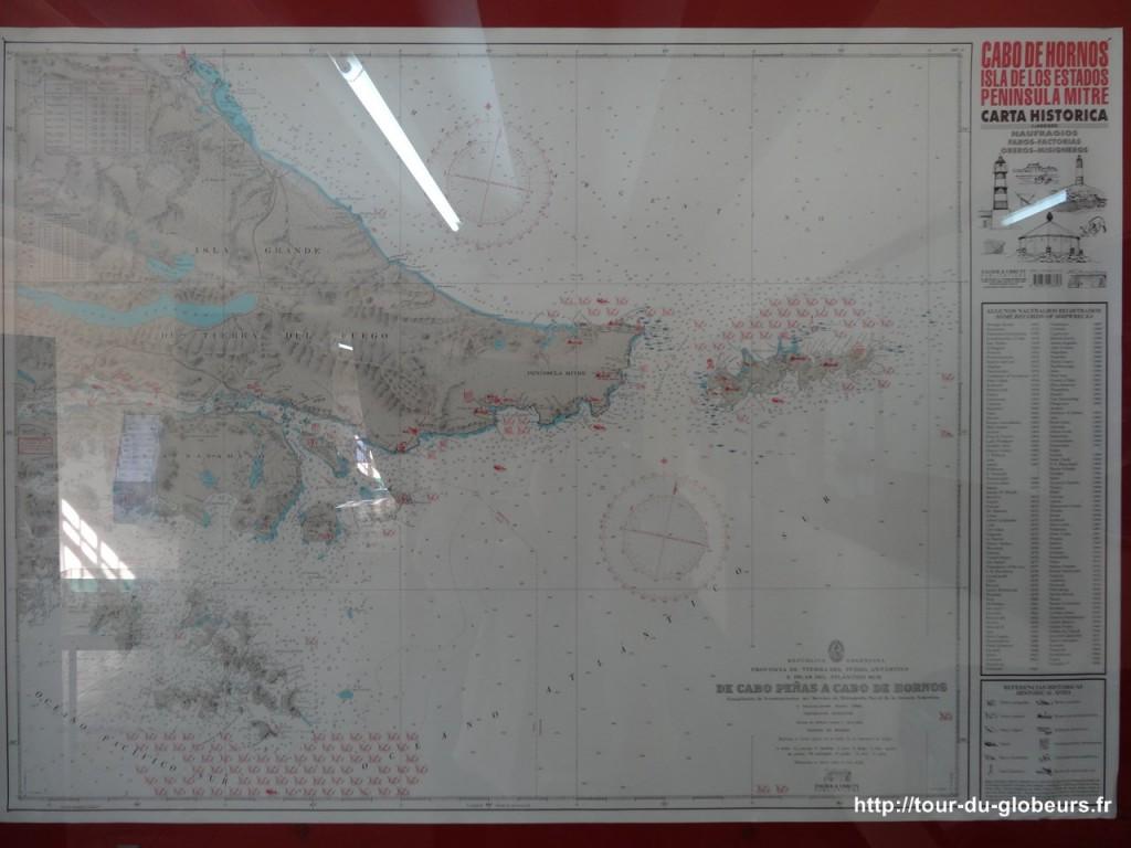 Argentine - Ushuaïa - Carte des naufrages