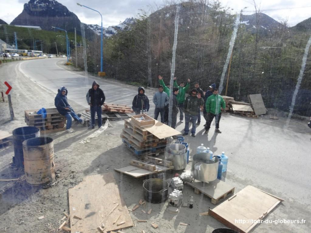 Argentine - Ushuaïa - Piquet de grêve