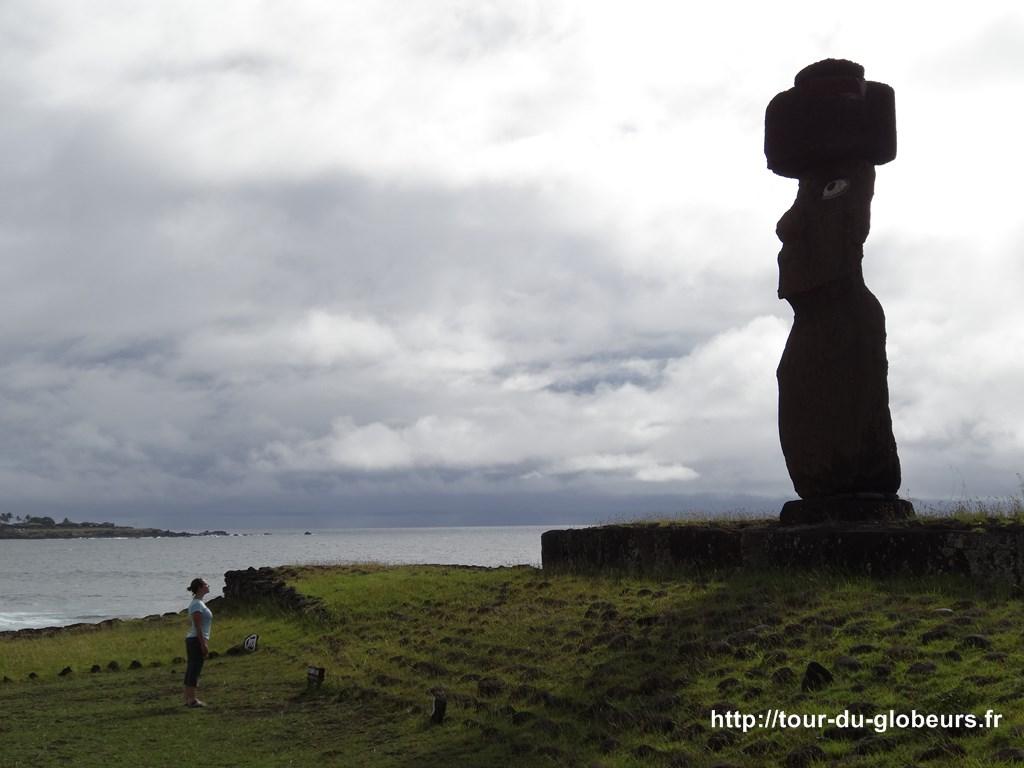 Chili - Ile de Pâques - Yeux dans les yeux, confrontation avec le Moaï