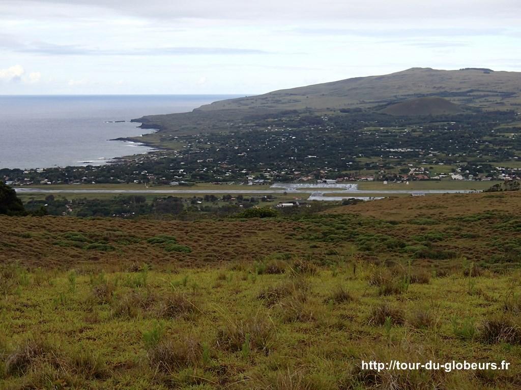Chili - Ile de Pâques - Vue sur Hanga Roa