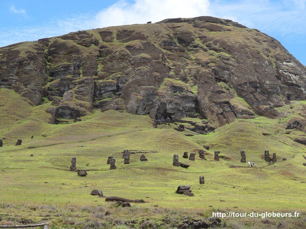Chili - Ile de Pâques - Carrière des Moaïs - Rano Raraku