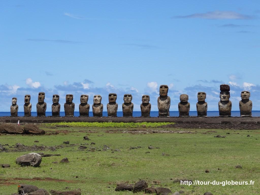 Chili - Ile de Pâques - Moaïs de Tongariki