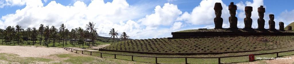 Chili - Ile de Pâques - Panoramique Anakena