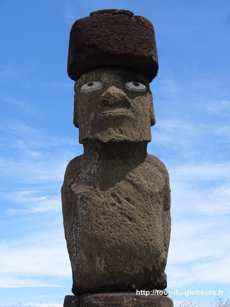 Chili - Ile de Pâques - LE fameux moaï avaec ses yeux