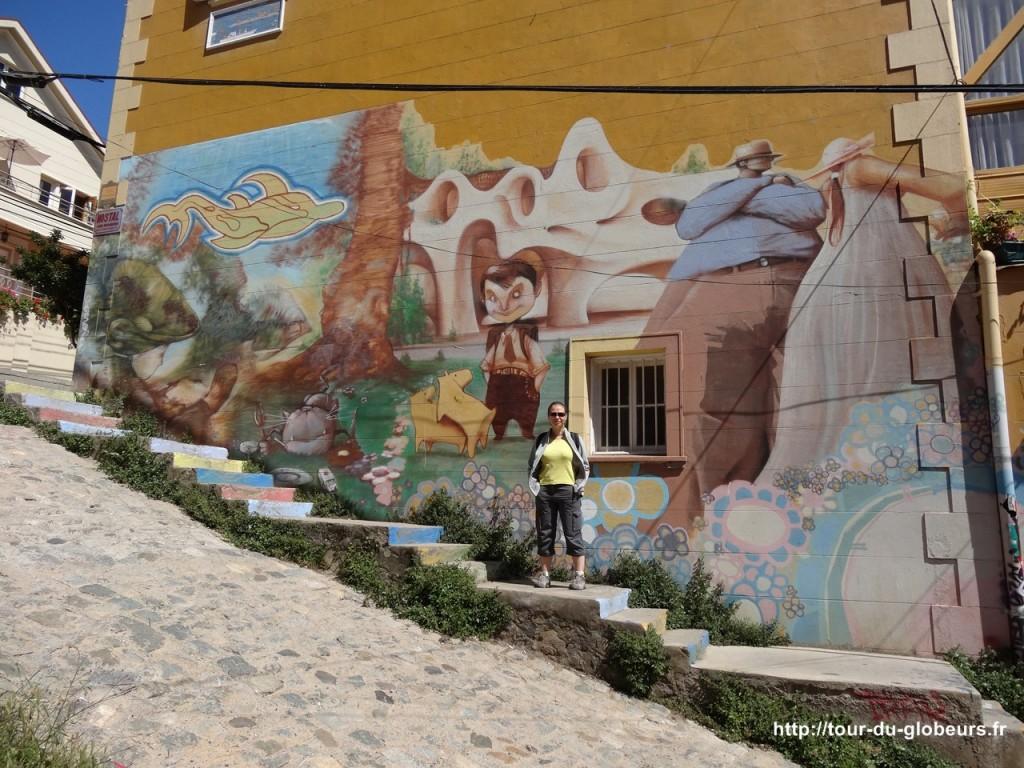 Chili - Valparaiso - Fresque murale
