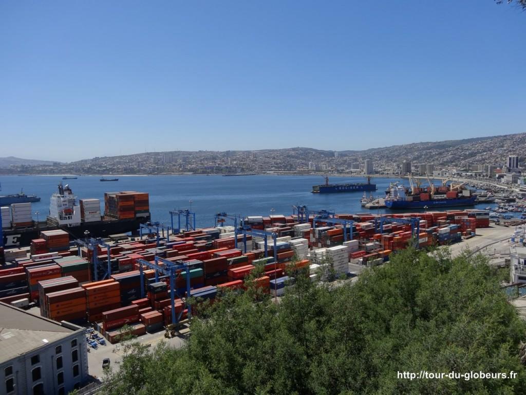 Chili - Valparaiso - Vue sur le port