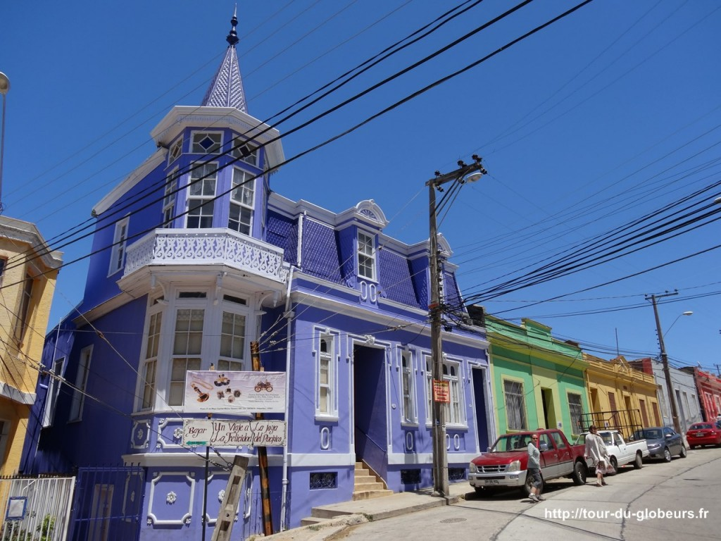 Chili - Valparaiso - Maisons colorées