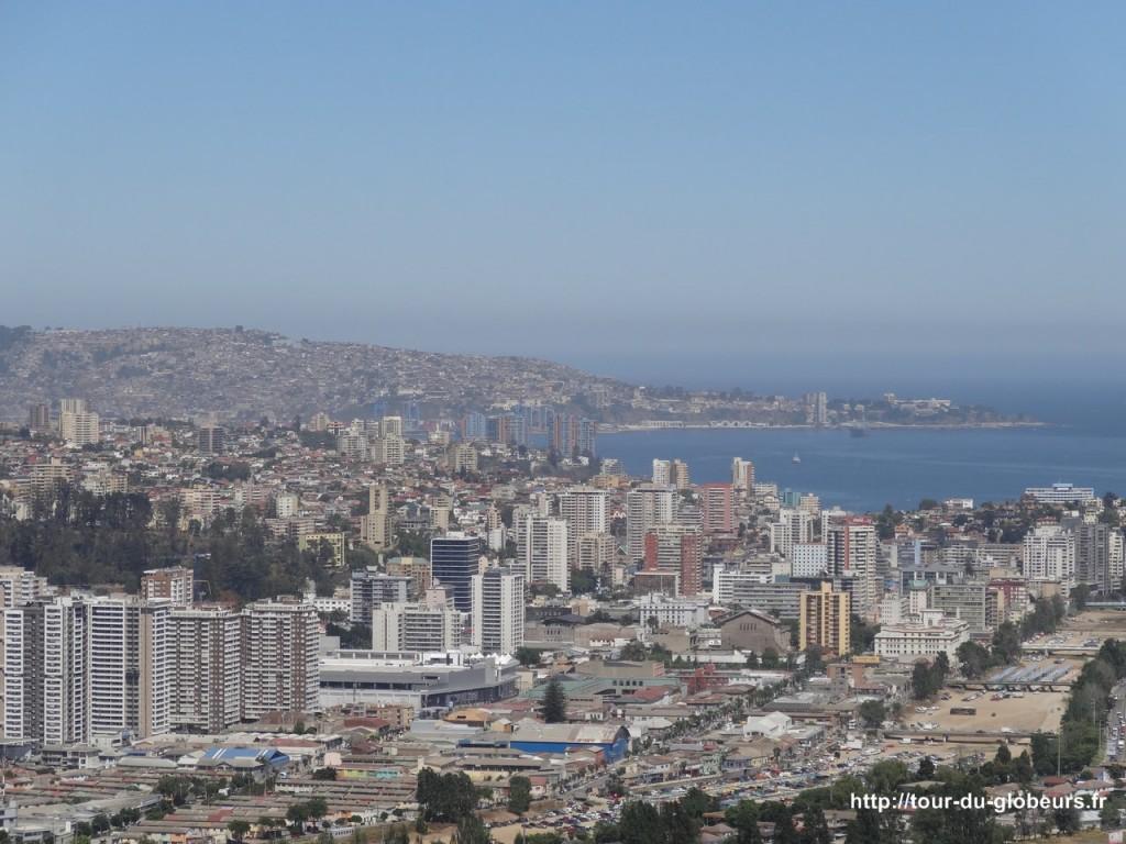 Chili - Vina del Mar - Vue sur la baie de Valparaiso