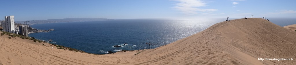 Chili - Vina del Mar - Vue depuis la dune de Renaca