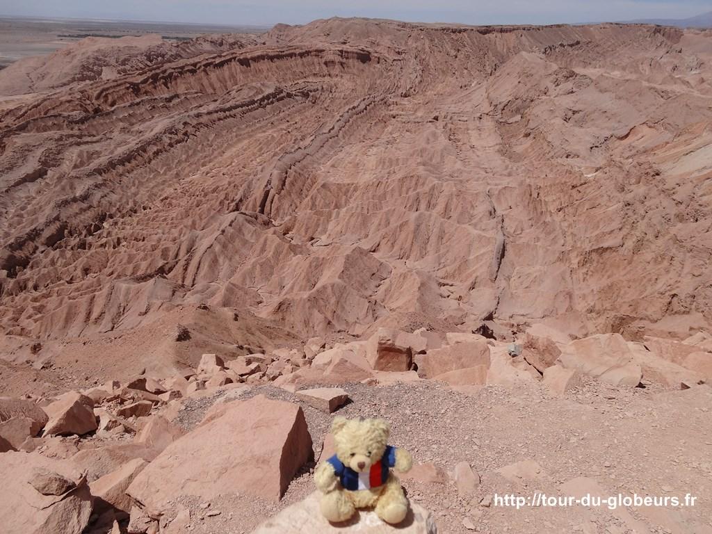 Chili - Atacama - Charlie devant la vallée de la mort