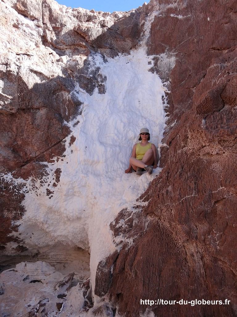 Chili - Atacama - Casacade de sel