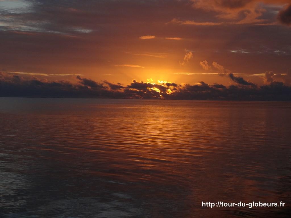Bora bora - Coucher de soleil