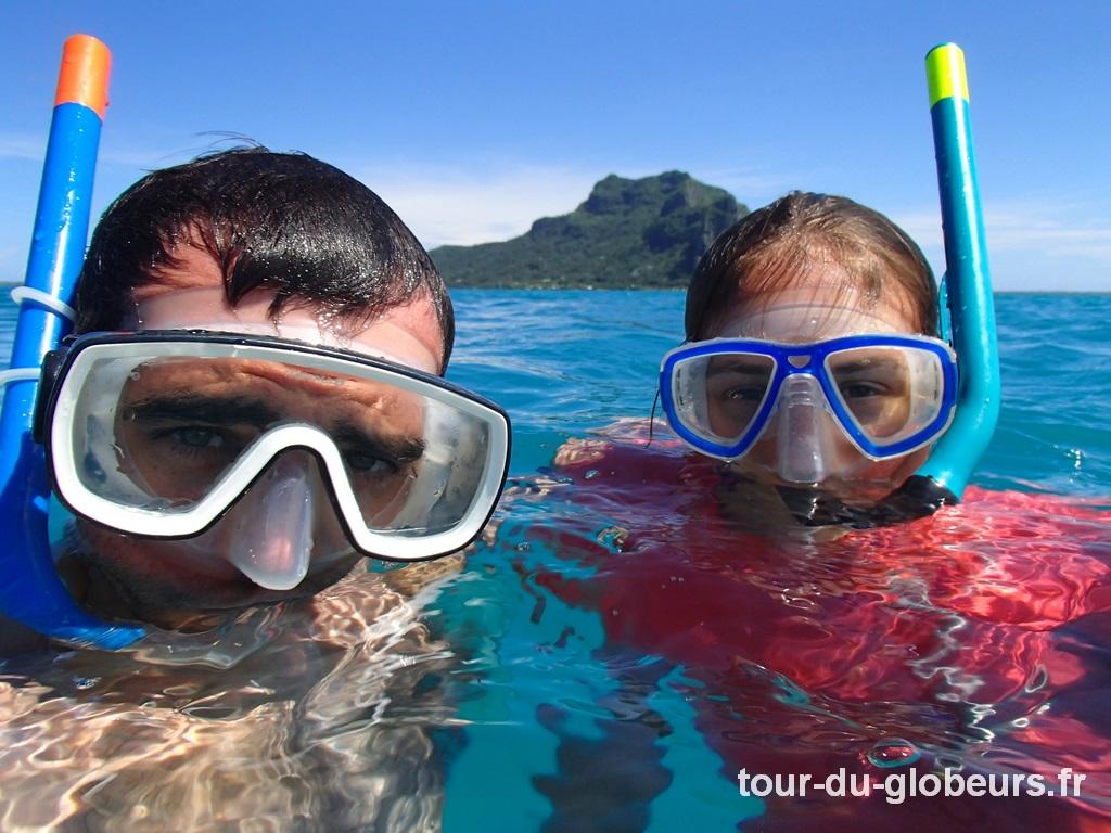 Maupiti - Session snorkeling dans la passe