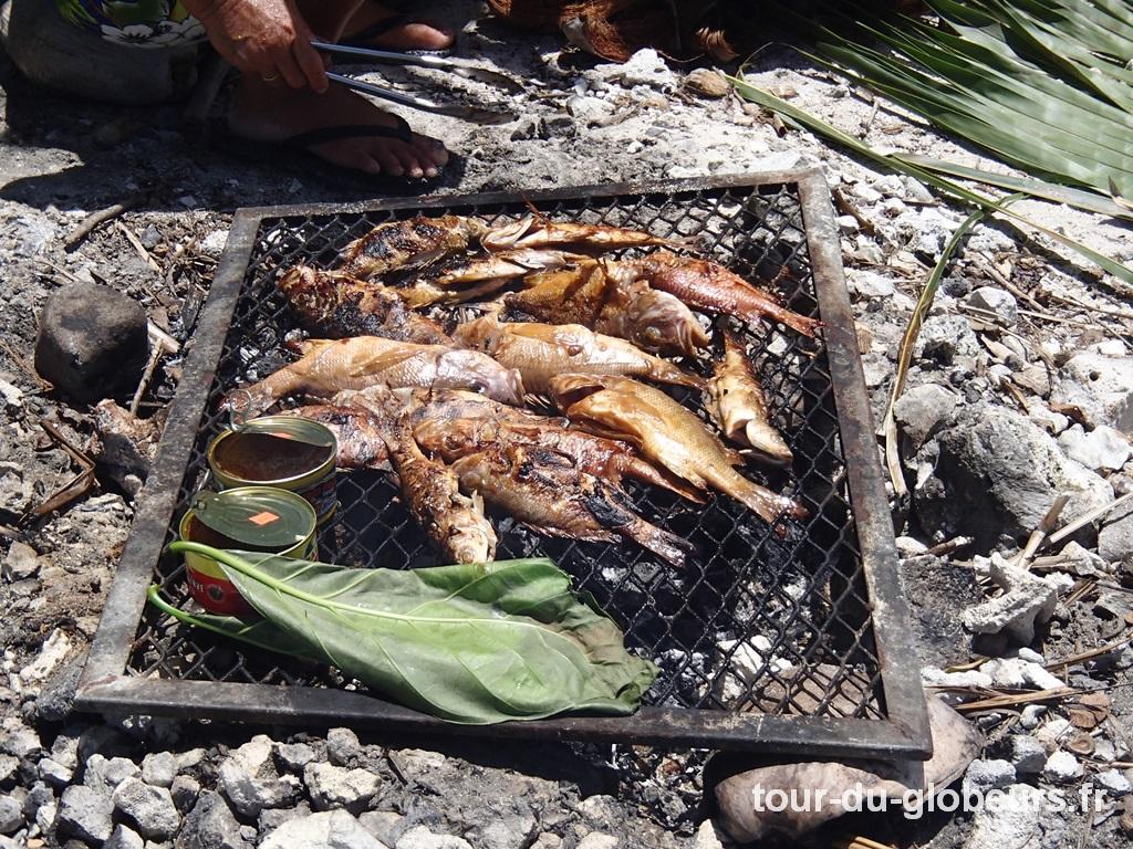 Maupiti - Poissons grillés