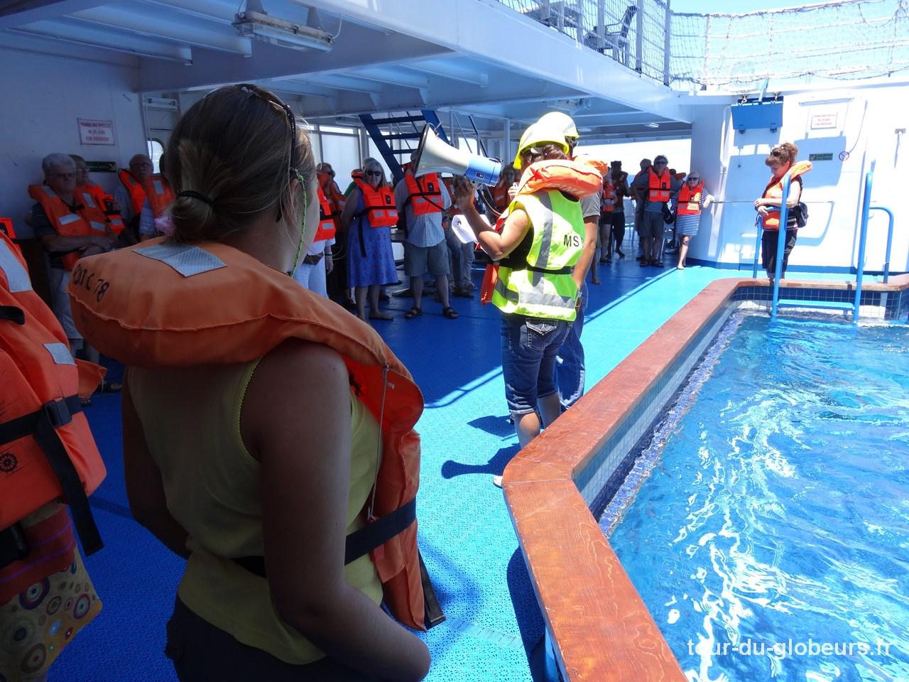 Marquises - Aranui - Exercice évacuation