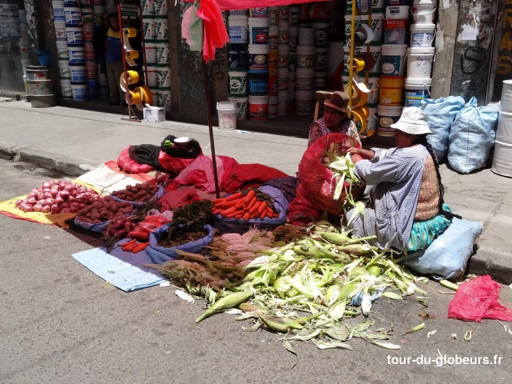 Le marché de La Paz - légumes