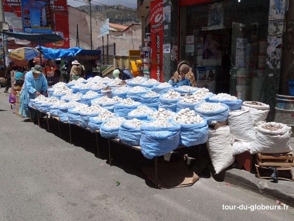Le marché de La Paz - pommes de terre