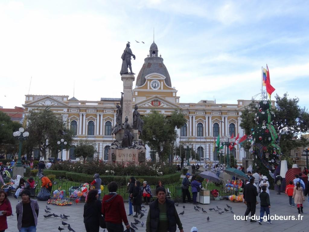 Plaza Murillo et palais présidentiel
