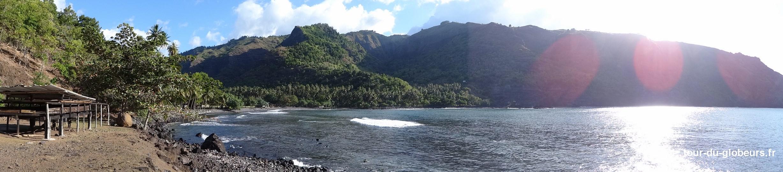 Marquises - Hiva Oa - Panoramique à Hanaiapa