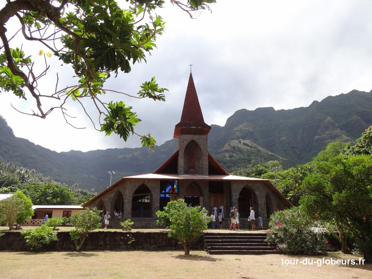 Marquises - Tahuata - Eglise extérieur