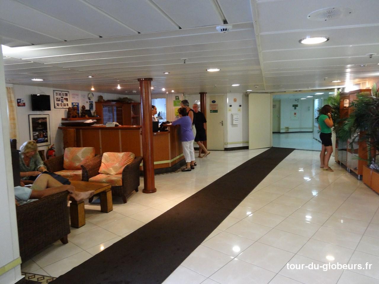 Marquises - Aranui 3 - Réception Accès étages