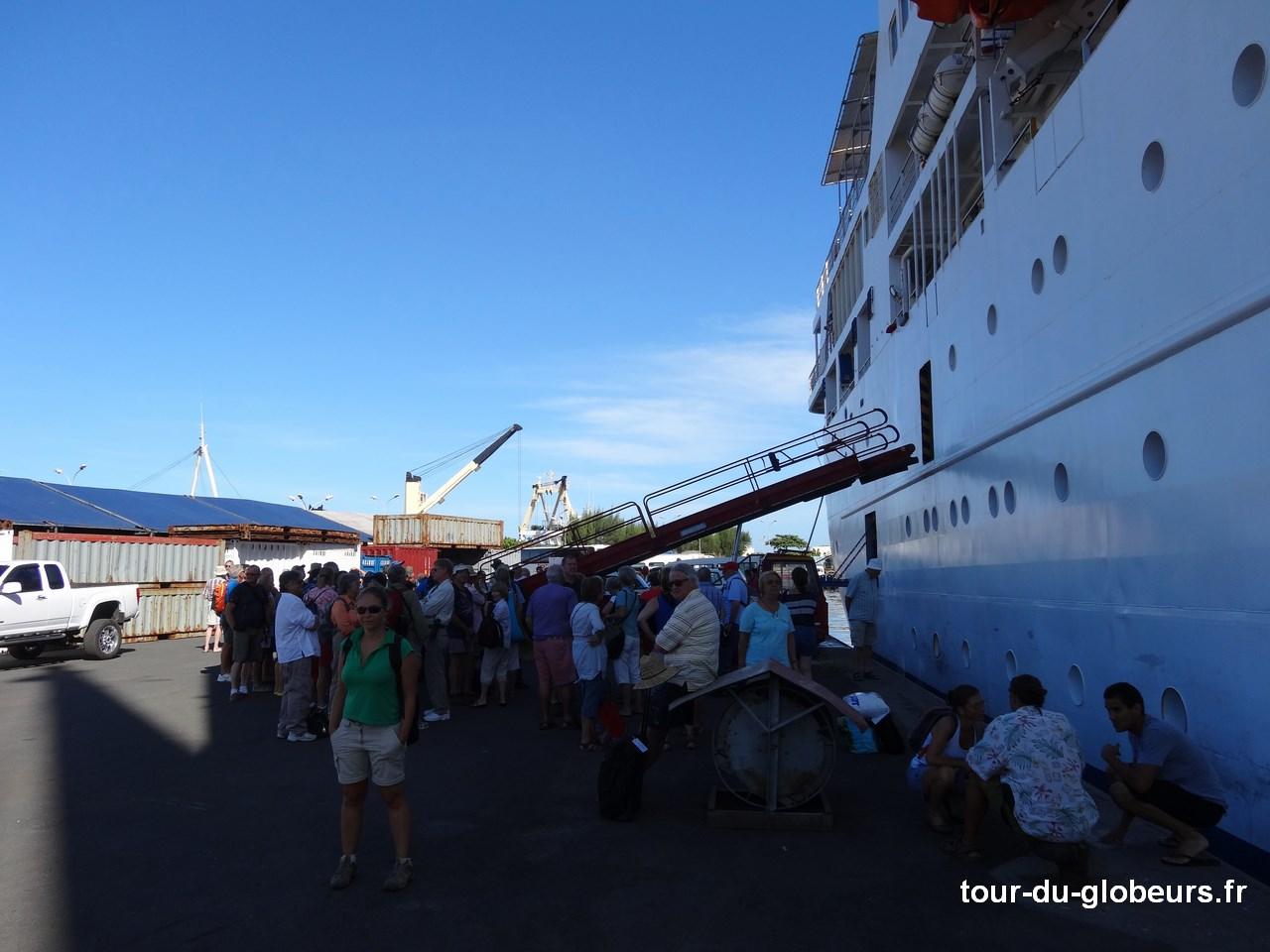 Papeete - Aranui 3 - Retour au port