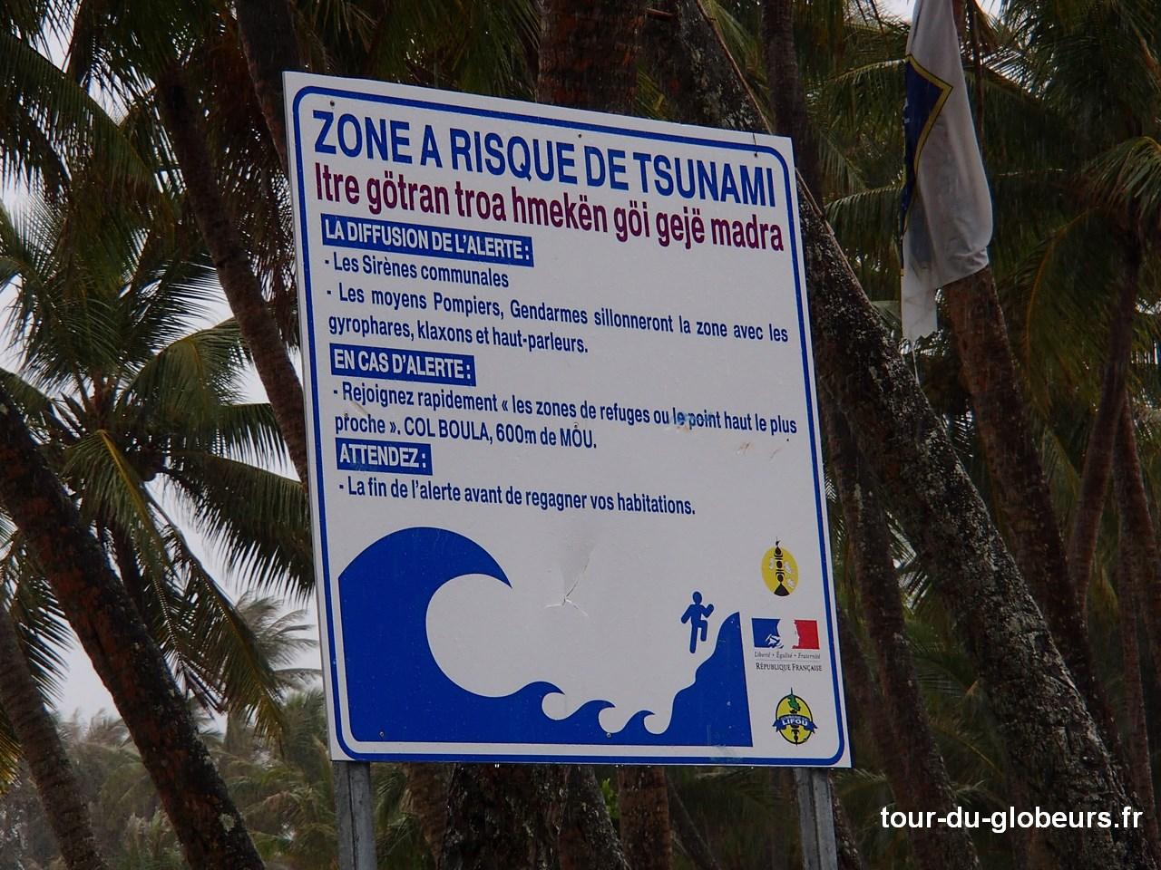 Nme-Calédonie - Lifou - Risque Tsunami